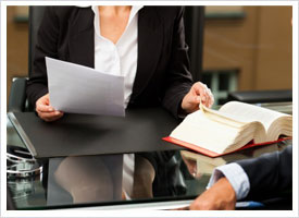 Female Paralegal in Office