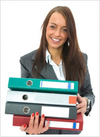 Paralegal with Files
